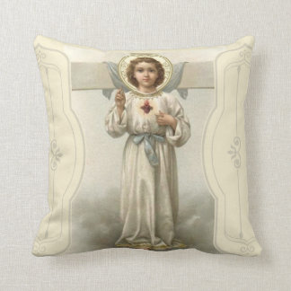 Jesus Christ Sacred Heart Cross Cushion