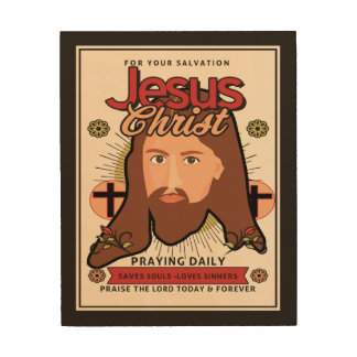 Jesus Christ Saves Souls Wood Wall Art