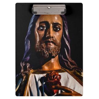 Jesus Christ Sculpture Photo Clipboard