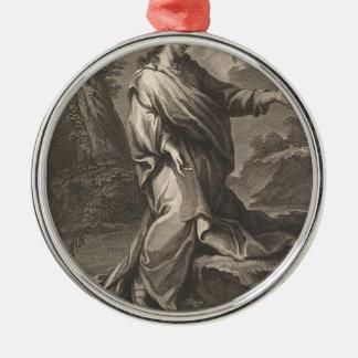 Jesus Christ Silver-Colored Round Decoration