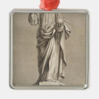 Jesus Christ Silver-Colored Square Decoration