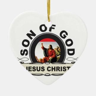 Jesus Christ son of god Ceramic Ornament