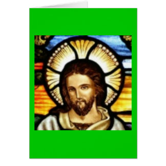 Jesus Christ Stained Glass Window Greeting Card
