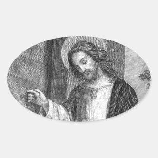 Jesus Christ Oval Sticker