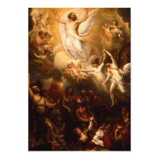 Jesus Christ the Resurrection 13 Cm X 18 Cm Invitation Card