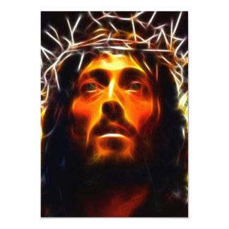 Jesus Christ The Savior 13 Cm X 18 Cm Invitation Card