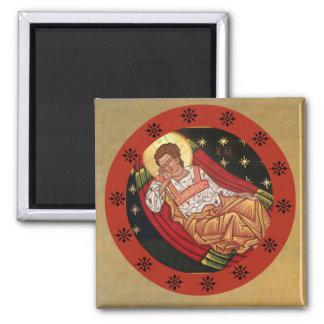 Jesus Christ, the Unsleeping Eye Icon Square Magnet