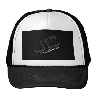 Jesus Christ Typo Art Trucker Hats