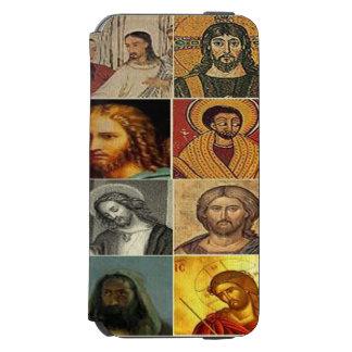 Jesus christ,vintage collage,antique,victorian incipio watson™ iPhone 6 wallet case