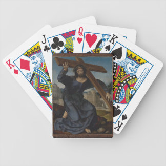 Jesus Christ With Cross Bicycle Playing Cards
