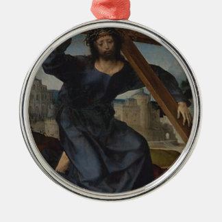 Jesus Christ With Cross Metal Ornament