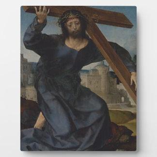 Jesus Christ With Cross Plaque
