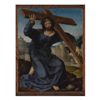 Jesus Christ With Cross Postcard