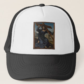 Jesus Christ With Cross Trucker Hat