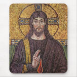 Jesus Christ with Holy Spirit Flame Mosaic Mousemat
