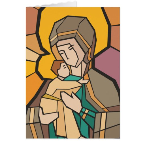 JESUS CHRIST WITH MOTHER MARY CARDS