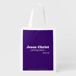 Jesus Christ Reusable Grocery Bag
