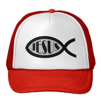 JESUS Christian Fish Symbol Hats