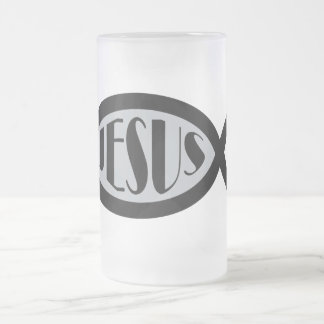JESUS Christian Fish Symbol Mugs