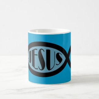 JESUS Christian Fish Symbol Coffee Mug