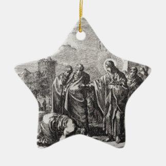 Jesus Confronts 12 Apostles Ceramic Ornament