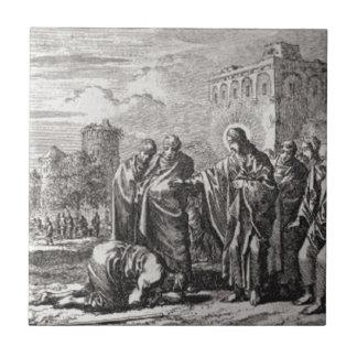 Jesus Confronts 12 Apostles Ceramic Tile