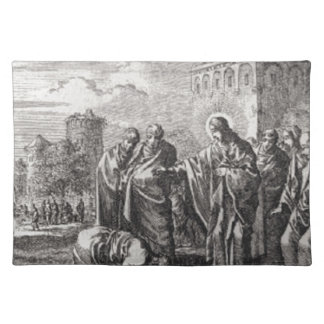 Jesus Confronts 12 Apostles Placemat