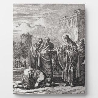 Jesus Confronts 12 Apostles Plaque