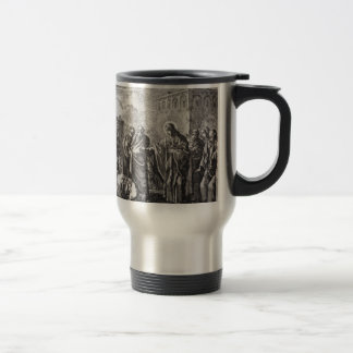 Jesus Confronts 12 Apostles Travel Mug