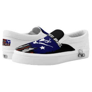 Jesus Country Tattered Flag Slip-On Shoes