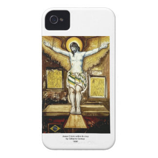 Jesus Cristo sobre la cruz iPhone 4 Case-Mate Cases