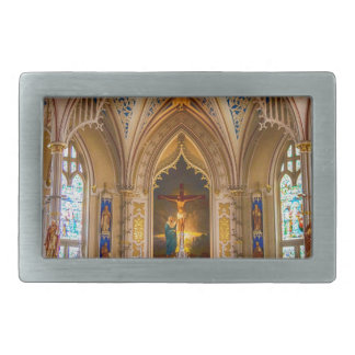 Jesus Cross Church Rectangular Belt Buckle