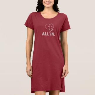 Jesus Cross Heart Tee Shirt Dress Christian Women