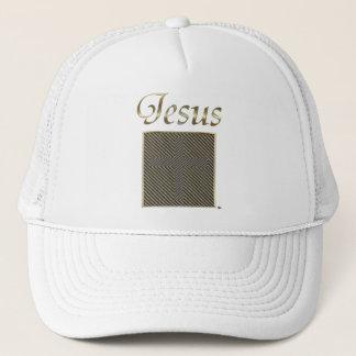 JESUS Cross Optical Illusion Trucker Hat