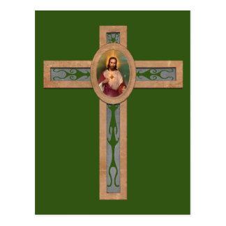 Jesus cross postcard
