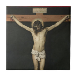 JESUS CRUCIFIED SMALL SQUARE TILE
