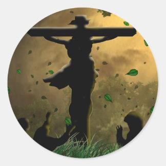 Jesus Crucifixion Classic Round Sticker
