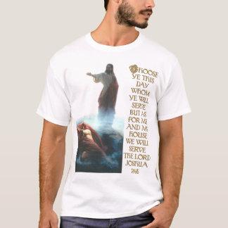 Jesus Defeating Satan and Joshua 24:15 T-Shirt