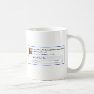 Jesus does Social Media Basic White Mug