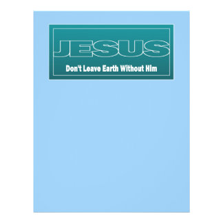 JESUS Don't Leave Earth Without Him 21.5 Cm X 28 Cm Flyer