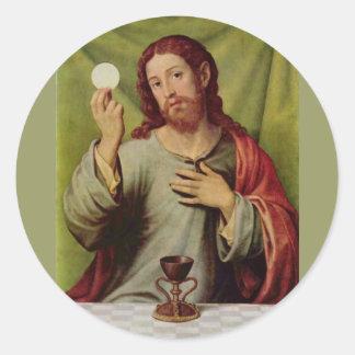 Jesus eucharist sticker