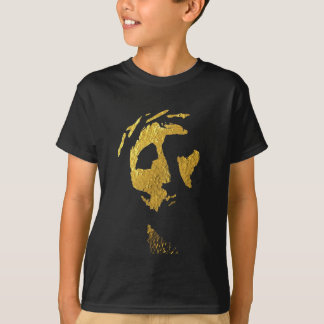 Jesus Face in Gold T-Shirt