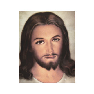 Jesus Face Portrait Canvas Print