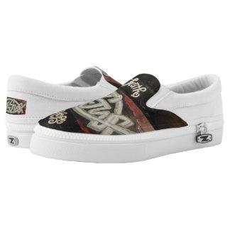 """Jesus, Faith and Hope Zipz Slip On Shoes Printed Shoes"