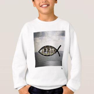 Jesus fish 2 sweatshirt