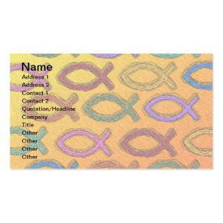 JESUS FISH DESIGN BUSINESS CARD TEMPLATES