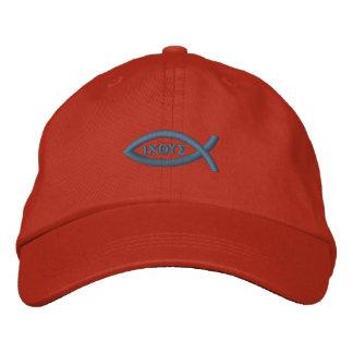 Jesus Fish Embroidered Baseball Caps