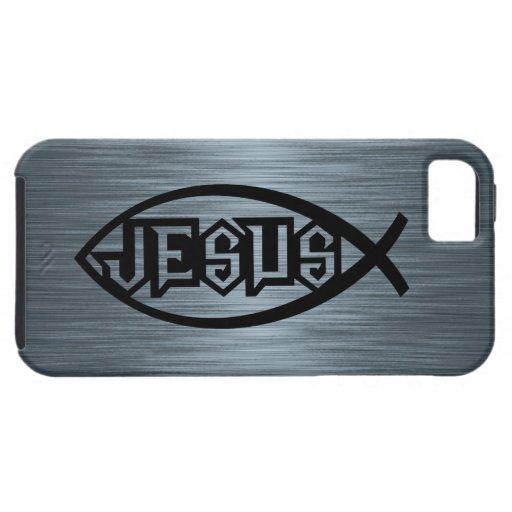 Jesus Fish Ichthys Fish Metallic Look iPhone 5 Cover