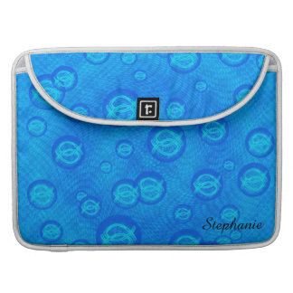 Jesus fish in blue bubbles sleeve for MacBooks
