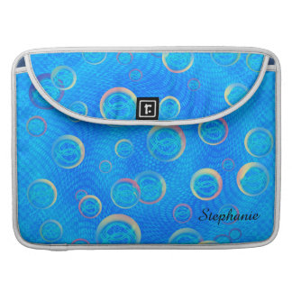Jesus fish in bubbles sleeve for MacBook pro